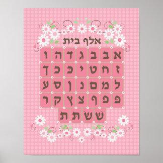 Alef rosado Beis - nuevo Impresiones