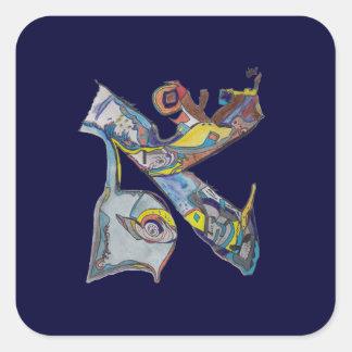 Alef Square Sticker