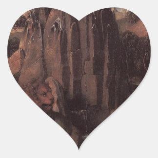 Alegoría con una Virgen de Hans Memling Pegatina En Forma De Corazón