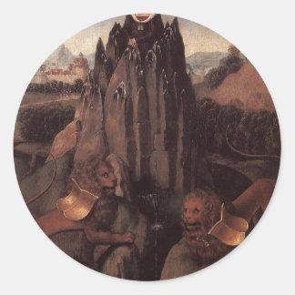 Alegoría con una Virgen de Hans Memling Pegatina Redonda