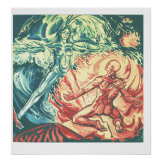 Alegoría de agua, fuego /Venus y Vulkan/ Impresiones