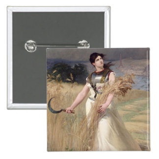 Alegoría de Francia Pin Cuadrada 5 Cm