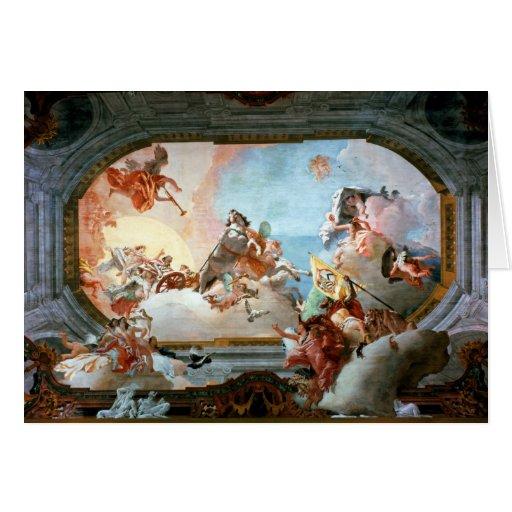 Alegoría de la boda de Rezzonico a Savorgnan Tarjeta De Felicitación