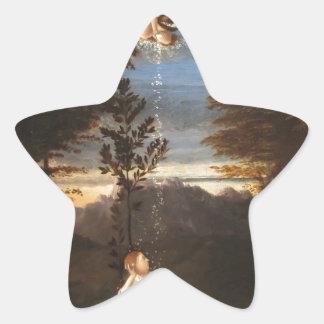 Alegoría de la castidad de Lorenzo Lotto Pegatina En Forma De Estrella