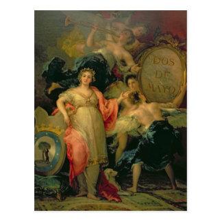 Alegoría de la ciudad de Madrid, 1810 Tarjetas Postales