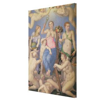 Alegoría de la felicidad c 1567 aceite en el cob lona estirada galerías