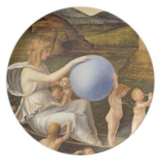 Alegoría de la fortuna cambiante, o melancolía (ac plato de comida