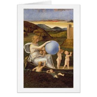 Alegoría de la fortuna cambiante, o melancolía (ac tarjeta