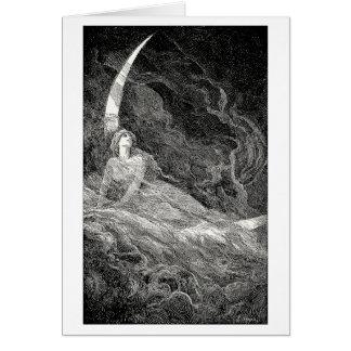 Alegoría de la luna tarjeta de felicitación