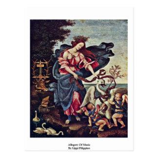 Alegoría de la música de Lippi Filippino Tarjetas Postales
