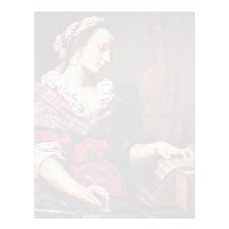 Alegoría de la música de Lippi Lorenzo Membrete