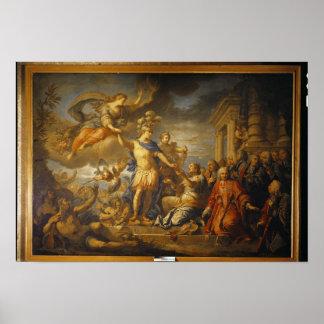 Alegoría de la paz del AIX-la-Chapelle, 1761 Póster