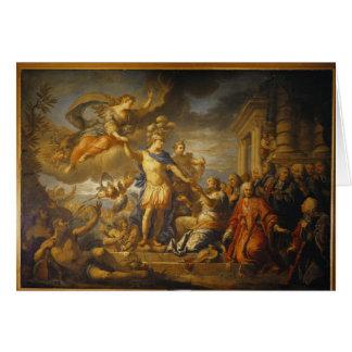 Alegoría de la paz del AIX-la-Chapelle, 1761 Tarjeta