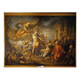 Alegoría de la paz del AIX-la-Chapelle, 1761 Postales