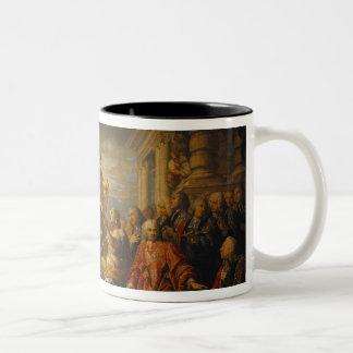 Alegoría de la paz del AIX-la-Chapelle, 1761 Taza De Café