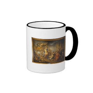 Alegoría de la paz del AIX-la-Chapelle, 1761 Tazas De Café
