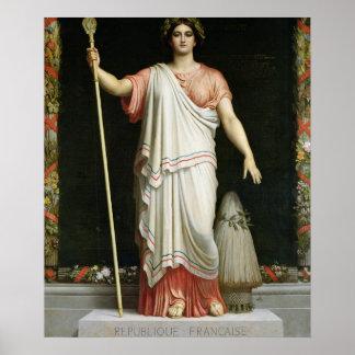 Alegoría de la república, 1848 póster