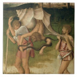 Alegoría de la sabiduría (aceite en el panel) azulejo cuadrado grande