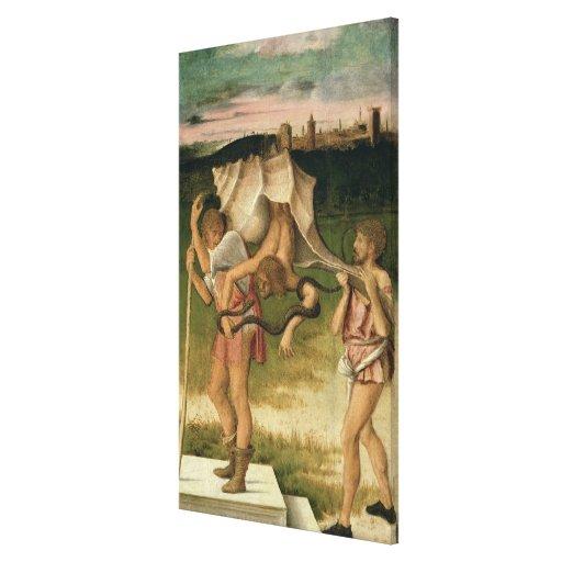 Alegoría de la sabiduría (aceite en el panel) impresion en lona