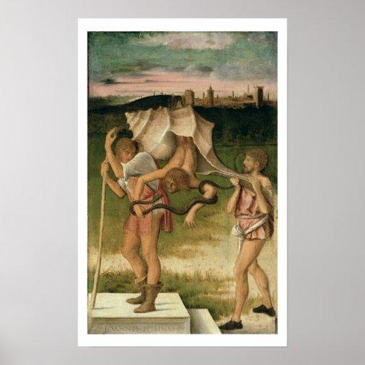 Alegoría de la sabiduría (aceite en el panel) poster