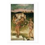Alegoría de la sabiduría (aceite en el panel) postales