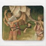 Alegoría de la sabiduría (aceite en el panel) tapete de ratón