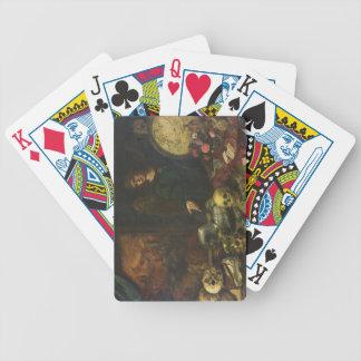 Alegoría de la vanidad 1650-60 aceite en lona baraja de cartas