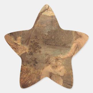 Alegoría de la vida de Pedro Puvis de Chavannes Pegatina En Forma De Estrella