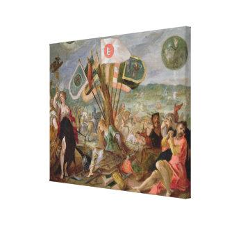Alegoría de las guerras turcas impresión en lienzo