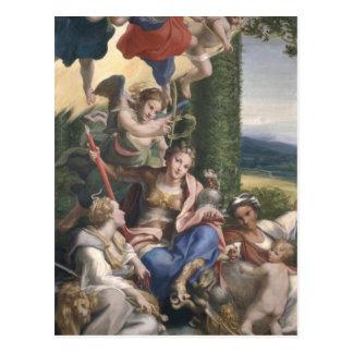 Alegoría de las virtudes, c.1529-30 postales