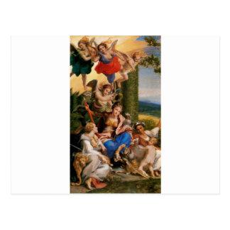 Alegoría de las virtudes por Correggio Tarjeta Postal