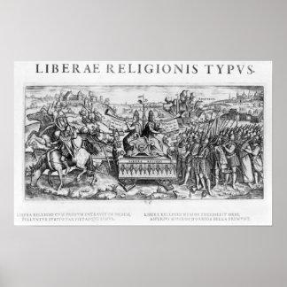 Alegoría de Librae Religionis Typus', Posters
