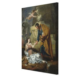 Alegoría de los artes y del patrocinio impresiones en lona estiradas