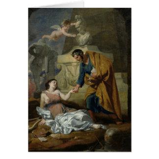 Alegoría de los artes y del patrocinio tarjeta de felicitación