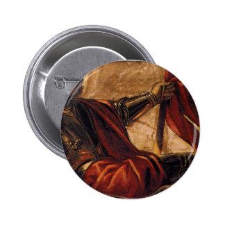Alegoría de los di San Teodoro Tintoretto de Pin Redondo De 2 Pulgadas