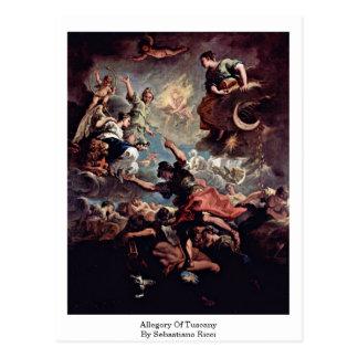 Alegoría de Toscana de Sebastiano Ricci Postales