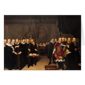 Alegoría del conflicto teológico Arminianists Tarjeta De Felicitación