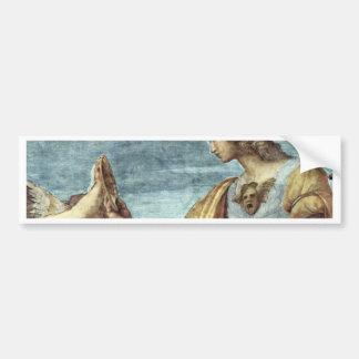 Alegoría del detalle de la virtud de Raffael (la m Pegatina De Parachoque