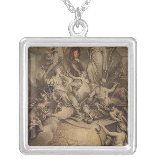 Alegoría del duque de Felipe II de Orleans, 1718 Colgante Cuadrado