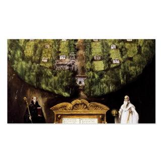 Alegoría del EL Greco- de la orden de Camaldolese Tarjeta De Visita