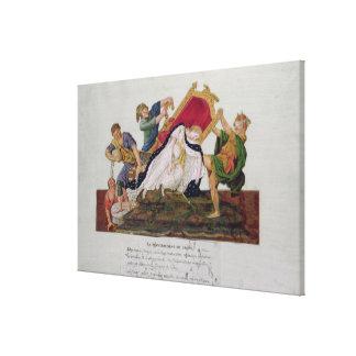 Alegoría del vuelco del trono impresion de lienzo