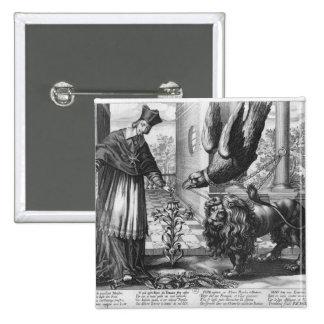 Alegoría en elogio a Cardenal Richelieu Pin Cuadrada 5 Cm