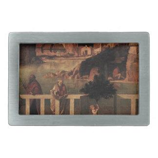 Alegoría sagrada de Juan Bellini Hebillas Cinturón Rectangulares
