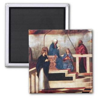 Alegoría santa por Bellini Imán Cuadrado