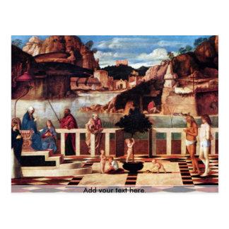 Alegoría santa por Bellini Postal