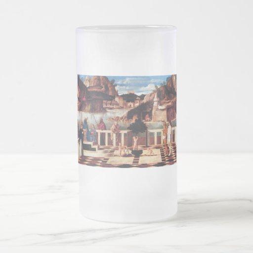 Alegoría santa por Bellini Taza De Cristal