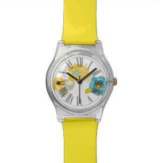 Alegre de PixDezines, floral retro Reloj