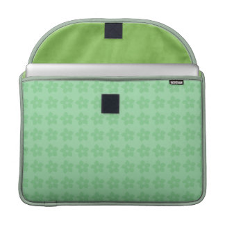 Alegre diseño juvenil de flores en tonos verdes funda para macbooks