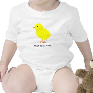 Alegre el polluelo amarillo del bebé trajes de bebé