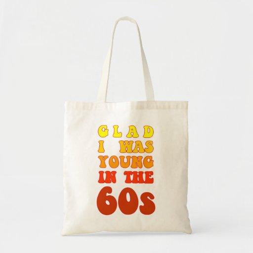 Alegre era joven en los años 60 bolsa tela barata